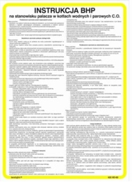 Obrazek Instrukcja BHP przy obsłudze kotłowni opalanej trocinami 422 XO - 174