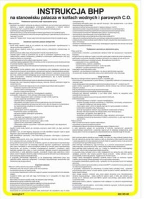 422 XO - 39 Instrukcja BHP dla pracownika korzystającego z butli z gazami przemysłowymi (technicznymi) (422 XO-39)