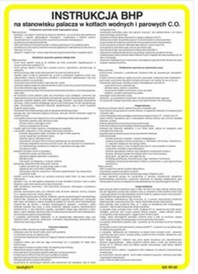 422 XO - 43 Instrukcja BHP dla wulkanizatora opon i dętek pojazdów mechanicznych (422 XO-43)