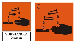 Obrazek dla kategorii Znak Substancja żrąca (700-05)
