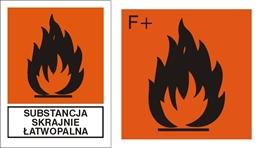 Obrazek dla kategorii Znak Substancja skrajnie łatwopalna (700-07)