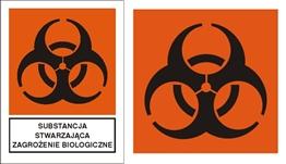 Obrazek dla kategorii Znak Substancja stwarzająca zagrożenie biologiczne (700-11)