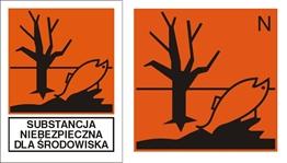 Obrazek dla kategorii Znak Substancja niebezpieczna dla środowiska (700-12)