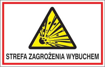 Znak Strefa zagrożenia wybuchem. (827-04)