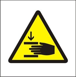 Obrazek Ostrzeżenie przed zgnieceniem dłoni