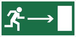 Obrazek dla kategorii Znak kierunek do wyjścia drogi ewakuacyjnej (w prawo) (102)