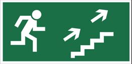 Obrazek dla kategorii Znak Kierunek do wyjścia drogi ewakuacyjnej schodami w górę (na prawo) (108)