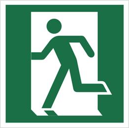 Obrazek dla kategorii Znak Drzwi ewakuacyjne (lewe) (109)