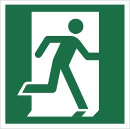 Obrazek dla kategorii Znak Drzwi ewakuacyjne (prawe) (110)