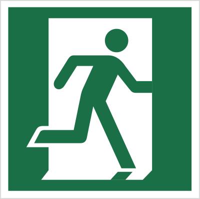 Znak Drzwi ewakuacyjne (prawe) (110)