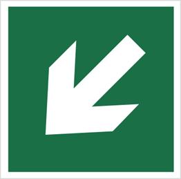 Obrazek dla kategorii Znak Kierunek drogi ewakuacyjnej (znak do stosowania tylko z innymi znakami) (113)