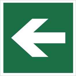 Obrazek dla kategorii Znak Kierunek drogi ewakuacyjnej (znak do stosowania tylko z innymi znakami) (114)