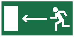 Obrazek dla kategorii Znak Kierunek do wyjścia drogi ewakuacyjnej (w lewo) (101)