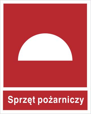 Znak Zestaw sprzętu pożarniczego  (bez podpisu) (203)