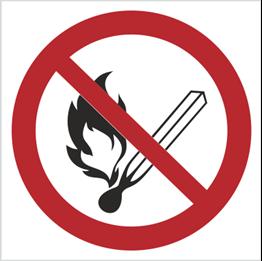 Obrazek dla kategorii Znak Zakaz używania otwartego ognia i palenia tytoniu (210)