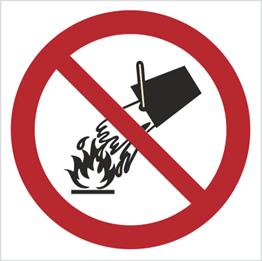 Obrazek dla kategorii Znak Zakaz gaszenia wodą (212)