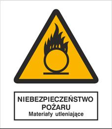 Obrazek dla kategorii Znak Niebezpieczeństwo pożaru - Materiały utleniające (214)