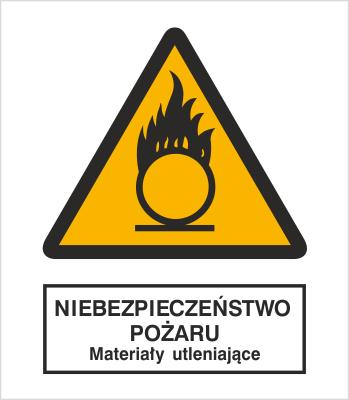Znak Niebezpieczeństwo pożaru - Materiały utleniające (214)