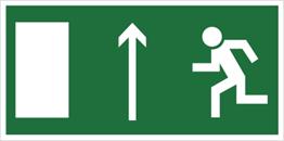 Obrazek dla kategorii Znak Kierunek do wyjścia drogi ewakuacyjnej w górę (znak uzupełniający) (101-01)