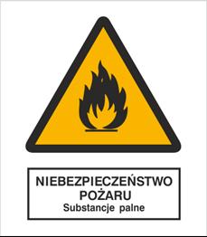 Obrazek dla kategorii Znak Niebezpieczeństwo pożaru - Substancje palne (214-01)