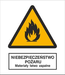 Obrazek dla kategorii Znak Niebezpieczeństwo pożaru - Materiały łatwo zapalne (215)