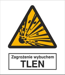 Obrazek dla kategorii Znak Niebezpieczeństwo wybuchu - Tlen (216-01)