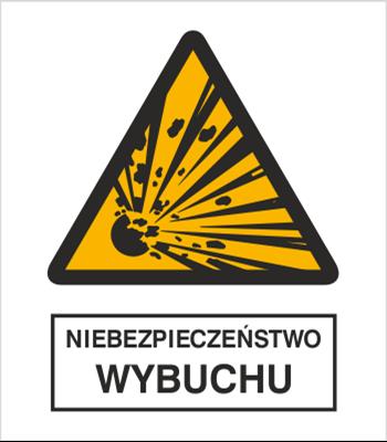 Znak Niebezpieczeństwo wybuchu (216-03)