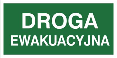 Znak Droga ewakuacyjna (104-01)