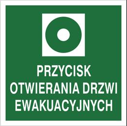 Obrazek dla kategorii Znak Przycik otwierania drzwi ewakuacyjnych (104-03)
