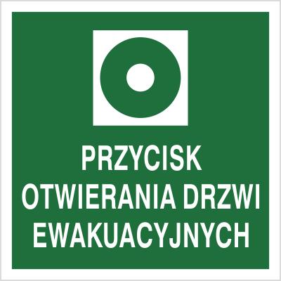Znak Przycik otwierania drzwi ewakuacyjnych (104-03)