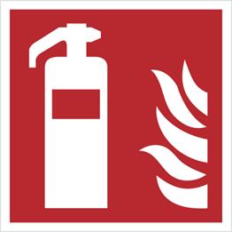 Obrazek dla kategorii Znak gaśnica wg PN-EN ISO 7010 (F01)