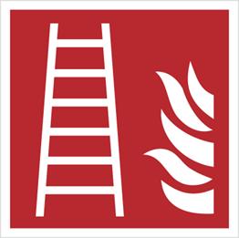 Obrazek dla kategorii Znak drabina pożarowa wg PN-EN ISO 7010 (F03)