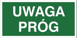 Obrazek dla kategorii Znak Uwaga próg (150)