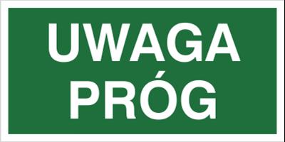 Znak Uwaga próg (150)