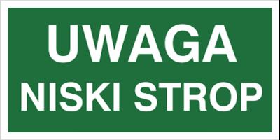 Znak Uwaga niski strop (151)