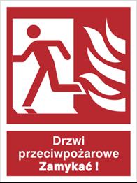 Obrazek dla kategorii Znak Drzwi przeciwpożarowe. Zamykać! (w lewo) (217-01)