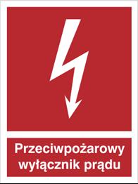 Obrazek dla kategorii Znak Przeciwpożarowy wyłącznik prądu (219)