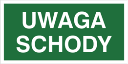 Obrazek dla kategorii Znak Uwaga schody (155)