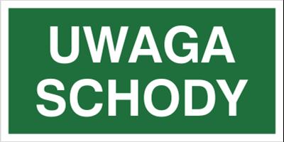 Znak Uwaga schody (155)