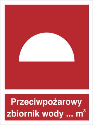 Znak Przeciwpożarowy zbiornik wody (223)