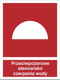 Obrazek dla kategorii Znak Przeciwpożarowe stanowisko czerpania wody (224)