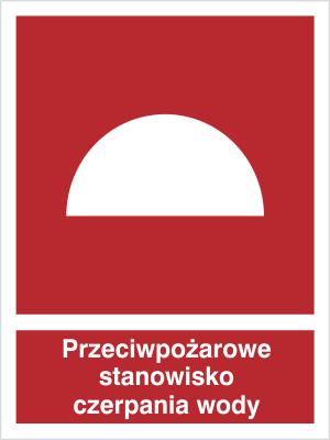 Znak Przeciwpożarowe stanowisko czerpania wody (224)