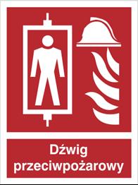 Obrazek dla kategorii Znak Dźwig przeciwpożarowy (225-02)