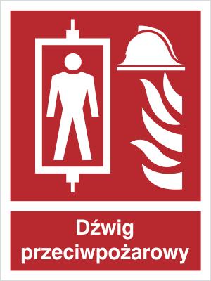 Znak Dźwig przeciwpożarowy (225-02)