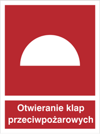 Obrazek dla kategorii Znak Miejsce otwierania klap przeciwpożarowych (226)
