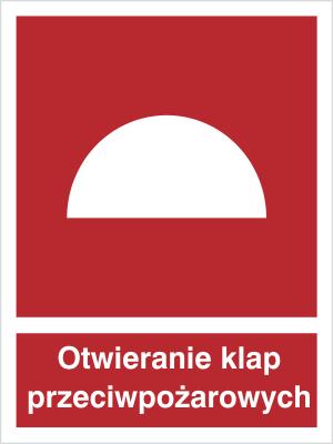 Znak Miejsce otwierania klap przeciwpożarowych (226)