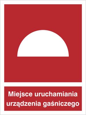 Znak Miejsce uruchamiania urządzenia gaśniczego (228)
