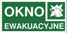 Obrazek dla kategorii Znak Okno ewakuacyjne (153)