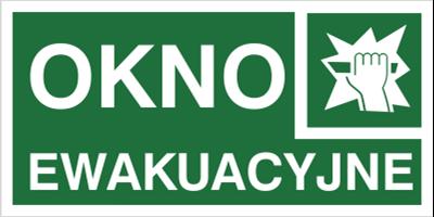 Znak Okno ewakuacyjne (153)