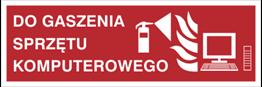 Obrazek dla kategorii Znak Do gaszenia sprzętu komputerowego (202-10)